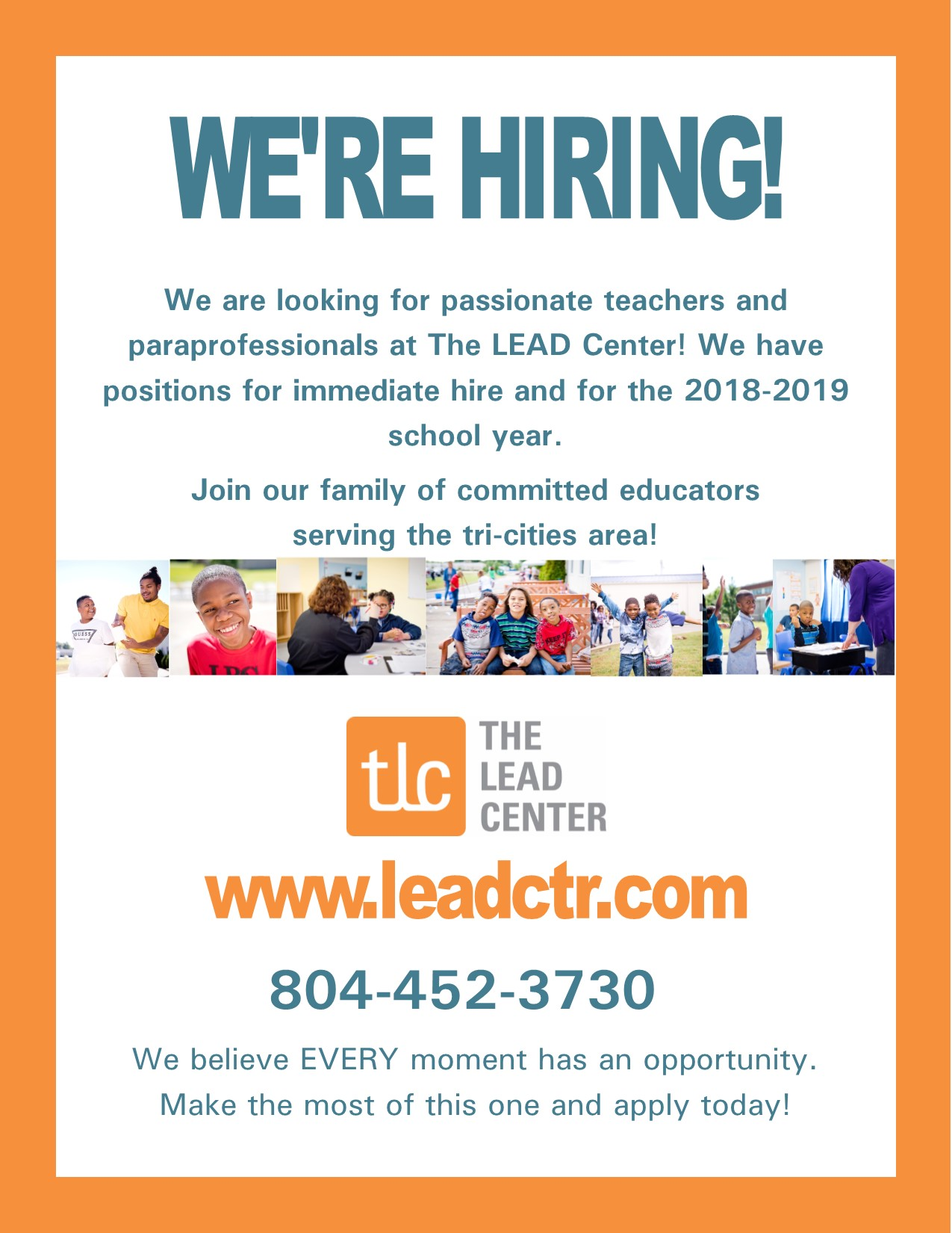 LEAD Center Employment Flyer tri-cities
